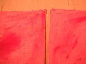 Sem título, Susana Bastos, Belo Horizonte, 2000, coleção particular. Detalhe da fixação do tecido à madeira por meio de pregos