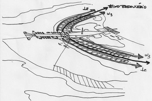 O fluxo predominantemente linear, programado por Lúcio Costa. Desenhos de Eliel Americo<br />Acervo do autor  [Ver nota 12]