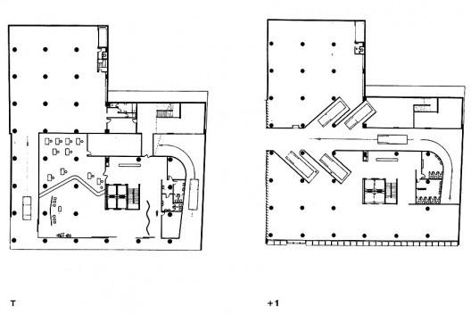 O Cruzeiro, planos<br />Imagem divulgação  [PAPADAKI, Stamo. <i>The Work of Oscar Niemeyer</i>, 1950]
