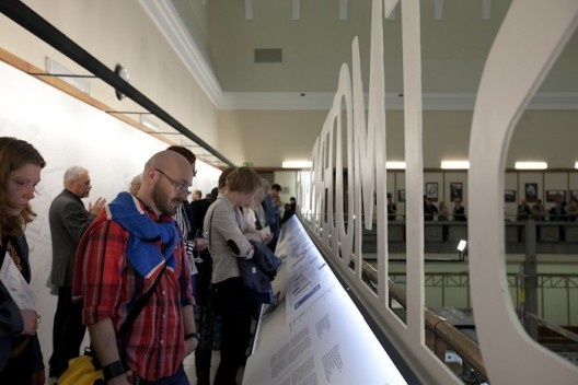 Image of the exhibition and its visitors, Museum of Modern Art in Warsaw, October 1-30, 2011<br />Picture by Bartosz Stawiarski/ Museum of Modern Art in Warsaw