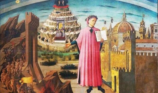 Domenico di Michelino, Dante lendo a Divina Comédia, Santa Maria del Fiore, Firenzi, 1465<br />Foto divulgação  [Wikimedia Commons]