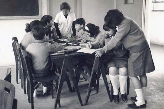 Sala de aula num Ginásio Vocacional na cidade de São Paulo nos anos 1960<br />Foto divulgação