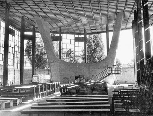 Igreja de Itoupava Seca. Blumenau, 1954 [Arquivo Hans Broos]