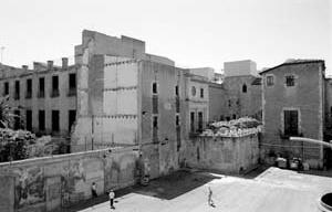 Museu Picasso, fachada posterior, estado inicial<br />Foto: Institut Amatller d'Art Hispànic / Arxius MAS / Arxiu Fotogràfic Municipal