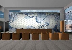 Carira e Itaporanga d´Ajuda. Painel de azulejos localizado nos saguões dos três edifícios. Imagem ilustrativa. Obra de arte de Cândido Portinari para o edifício do MES (RJ)