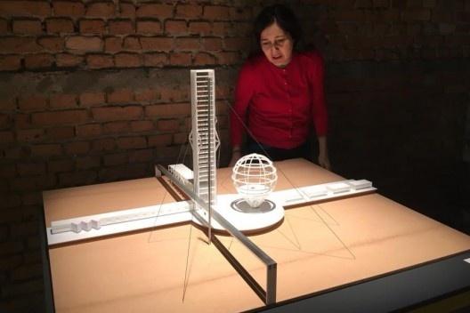 Exposição <i>Vkhutemas: o futuro em construção (1918-2018)</i>, Instituto Lênin de Leonídov, , recriação Goma Oficina/Guilherme Tanaka<br />Foto Abilio Guerra
