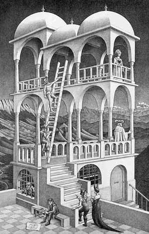 Escher, Belvedere, 1958