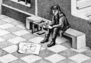 Escher, Belvedere, 1958(detalhe)