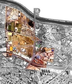 Foto aérea do local