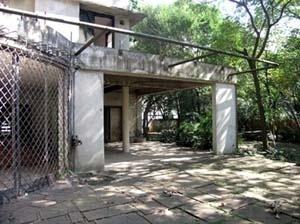 Vista lateral do terraço posterior<br />Foto Marcos Carrilho