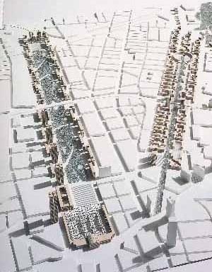 Desenho urbano para Frankfurt, arquiteto Von Gerkan Marg