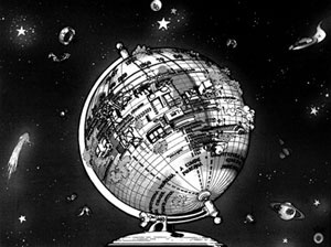 """Mesmo esquema, em desenho global: um gráfico provisório, inacabado, aberto, sem qualquer autoridade. Publicado como ilustração do artigo da autora """"O Futuro do Passado ou as tendências atuais"""", revista Projeto nº104, outubro 1987"""