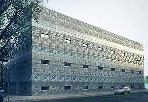 Figura 11 – Biblioteca Universitária de Eberswalde, Eberswalde, Alemanha. Projeto 1994-96, realização 1997-99 <br />Foto The Pritzker Architecture Prize