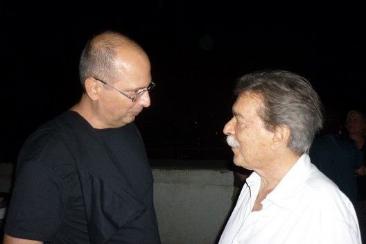 Abilio Guerra e Paulo Mendes da Rocha<br />Foto Ledy Xavier