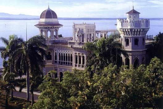 Magnífico palacete del millonario azucarero Del Valle, construido en la ciudad de Cienfuegos