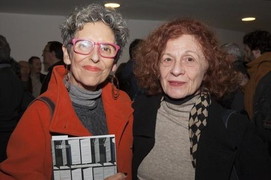 """Raquel Rolnik e Sarah Feldman, festa de lançamento do livro """"Abrahão Sanovicz, arquiteto"""", IAB/SP, 22 ago. 2017<br />Foto Fabia Mercadante"""