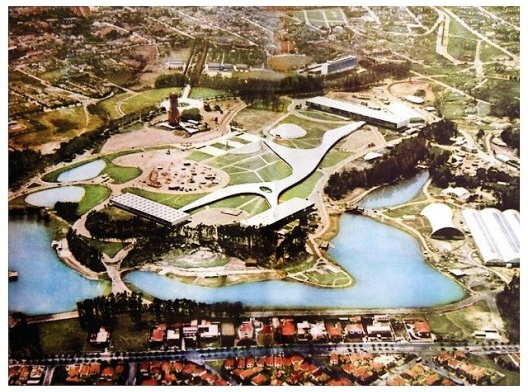 Parque do Ibirapuera em sua inauguração em 1954<br />Foto divulgação  [Revista Manchete Especial do IV Centenário]
