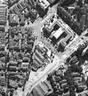 A Avenida Ipiranga sendo aberta por volta de 1940