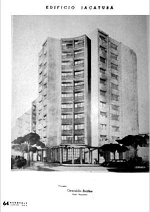 O único registro publicado do Jaçatuba, ainda como projeto através de uma perspectiva de 1944