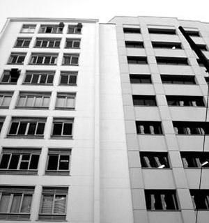 Transição entre os edifícios Jaçatuba, 1942, e o São Bartolomeo