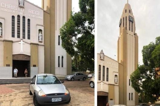 Catedral de São Sebastião, Presidente Prudente SP, situação atual<br />Foto Angelica Benatti Alvim