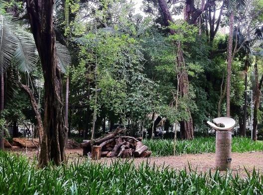 Vegetação e área permeável na Praça Buenos Aires, São Paulo<br />Foto Abilio Guerra