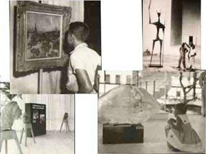 Figura 10: Registro fotográfico das exposições no foyer do teatro [BO BARDI, Lina. Lina Bo Bardi. São Paulo: Instituto Lina Bo e P.M. Bardi, 1993]