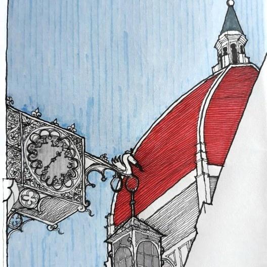 Igreja Santa Maria del Fiore, Firenze<br />Desenho de Haroldo Gallo