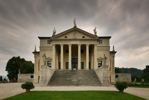 Front view of Villa Rotonda<br />Foto Stefan Bauer  [Wikimedia Commons]