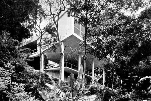 Residência Carmem Portinho, Bairro Jacarepaguá, Rio de Janeiro RJ, 1950. Arquiteto Affonso Eduardo Reidy<br />Foto acervo