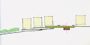 Croquis analítico reurbanização conceição