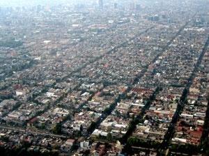 Foto aérea de la Ciudad de México