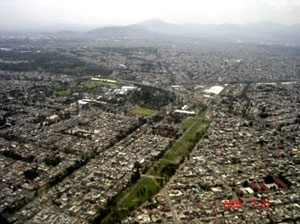 Vista aérea de la Ciudad de México