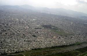 Vista aérea da Cidade do México