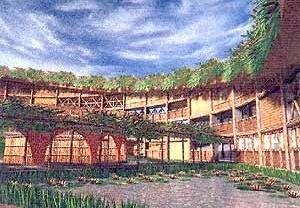 Centro de Paisagismo, TFG, Curso de Arquitetura da UFRN, 2001. Aluna Maria Cândida Carvalho; Orientadora Gleice Elali