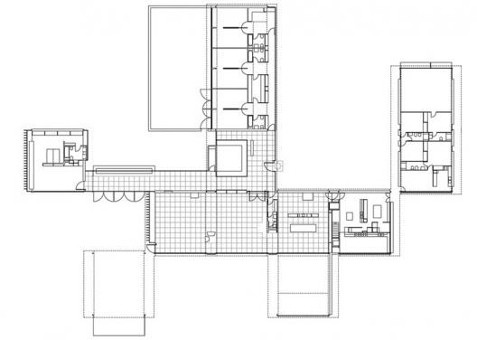 """Proyecto Ejecutivo de restauración de """"La Ricarda"""". El plan del proyecto. Arquitectos Fernando Álvarez y Jordi Roig (dibujo diciembre de 1998)"""