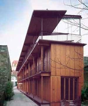 Figura 9 – Edifício de apartamentos Hebelstrasse, Basiléia. Concurso 1984, realização 1987/88 <br />Foto The Pritzker Architecture Prize