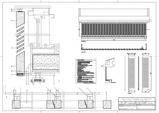 """Proyecto Ejecutivo de restauración de """"La Ricarda"""", fase 2. Plan, elevaciones y detalles. Arquitectos Fernando Álvarez y Jordi Roig (de julio de 2001)"""