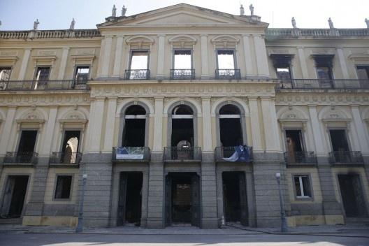 Museu Nacional no Rio de Janeiro após o rescaldo do incêndio<br />Foto Tomaz Silva  [Agência Brasil]