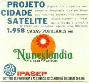Folder promocional do Conjunto Satélite, construído pelo IPASEP entre 1973 e 1980 [IPASEP, 1974]
