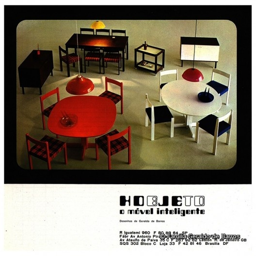 Anúncio para revistas da Hobjeto com o segundo logotipo da empresa, Geraldo de Barros, s.d.<br />Acervo Geraldo de Barros  [© Fabiana e Lenora de Barros]