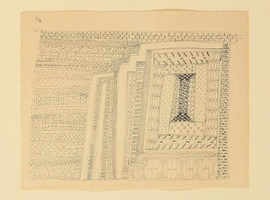 Paul Klee, Tapete, 1927<br />Imagem divulgação  [Coleção privada Paul Klee]