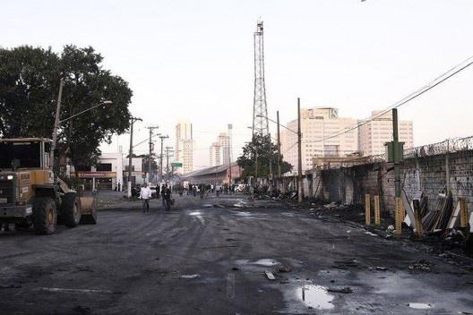 Favela do Cimento após o incêndio, 23 de março de 2019<br />Foto divulgação  [Prefeitura de São Pulo / EBC Agência Brasil]