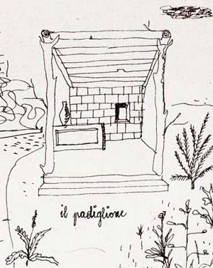 """Ilustração para contos infantis, """"o pavilhão"""", forma-tipo"""