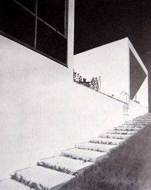 Casa de Vidro, lateral