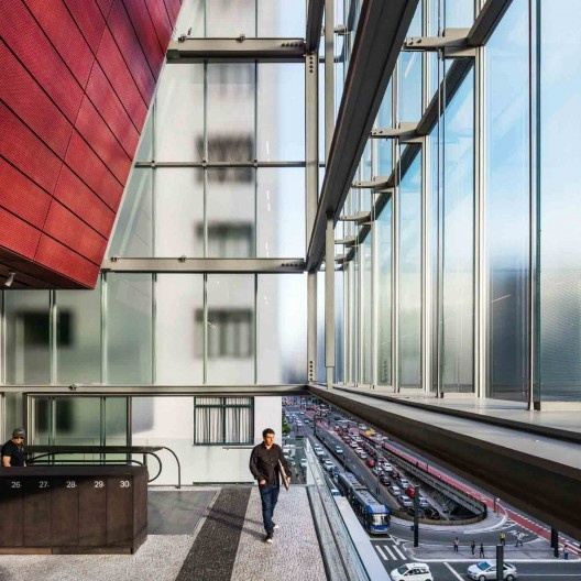 Sede do Instituto Moreira Salles, São Paulo. Arquitetos Vinicius Andrade e Marcelo Morettin<br />Foto Nelson Kon