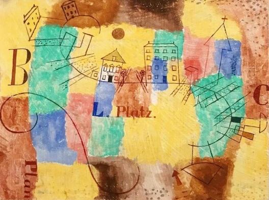 Paul Klee, Der L-Platz im Bau, 1923<br />Imagem divulgação