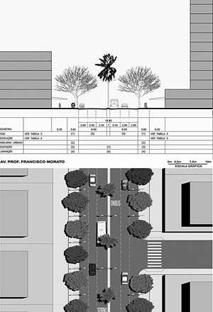 Operação Urbana Vila Sônia. Plano-Referência de Intervenção e Ordenação Urbanística. Av. Francisco Morato: projeto de adequação geométrica e requalificação urbana
