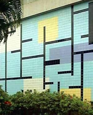 Foto do painel frontal no pavimentp térreo do bloco A [Arquivo pessoal de Ériko de Oliveira]