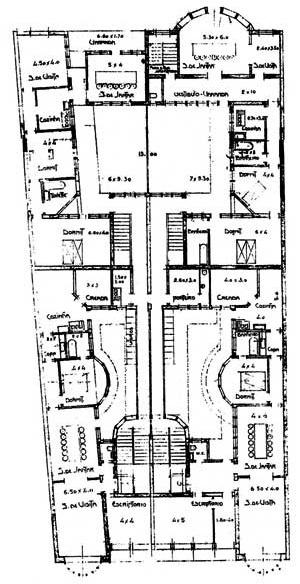 Fig. 01 – Edifício com atelier fotográfico, 1910, São Paulo, arquiteto Victor Dubugras. Planta tipo [Arquivo FAU-USP]